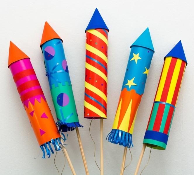 Maak jouw eigen flitsende  vuurpijl en vier het nieuwe jaar!