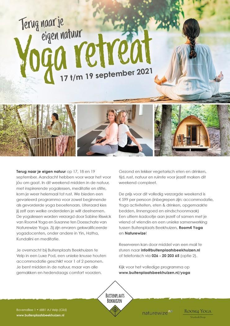 Terug naar jouw eigen natuur  met een Yoga retreat!
