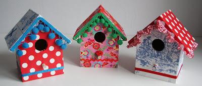 Vogelhuisje schilderen en kleuren!